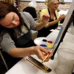 Wine and Palette offers artful <b>entertainment</b>