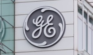 BADEN, SWITZERLAND. November 2nd, 2015. The new General Electric logo has been installed at the form