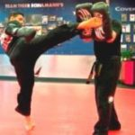 Locals use martial arts for self defense